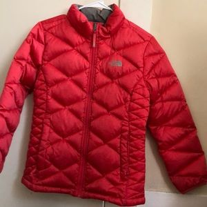 Girls north face puffy insulated jacket